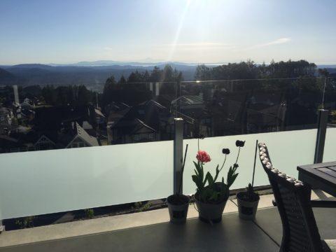 Balcony Glass - Frost Film